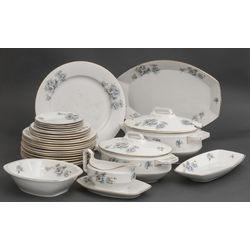 Faience dinner set for 5 persons