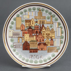 Porcelain plate Riga