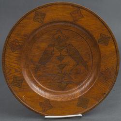 Декоративная тарелка из дерево Птицы