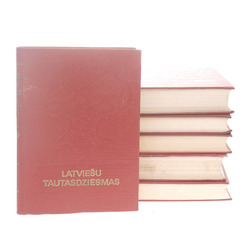 Grāmatas Latviesu tautasdziesmas 6 sējumi