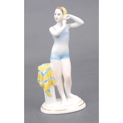 "Porcelain figure ""Young swimmer"""