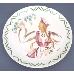 Decorative faience plate