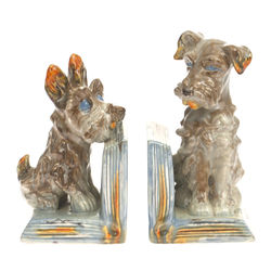 Porcelain book holders Dogs 2 pcs.