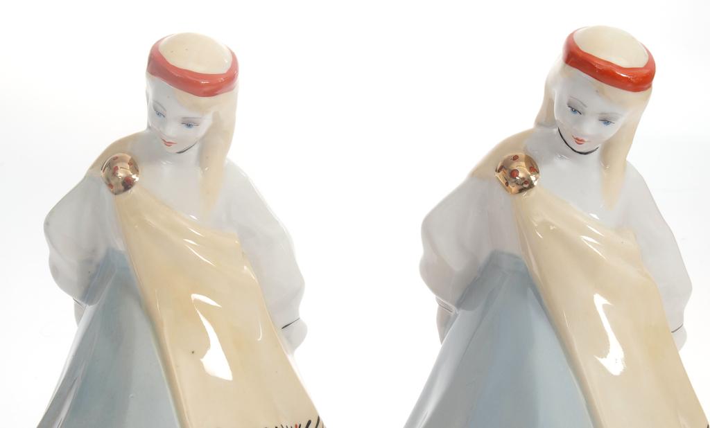 """Porcelāna grāmatu turētāji """"Tautumeitas"""" (2 gab.)"""