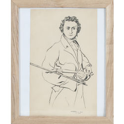 Vijolnieka Nikolo Paganini portrets