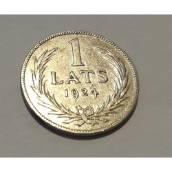 Sudraba vienlatnieka monēta - 1924.g.