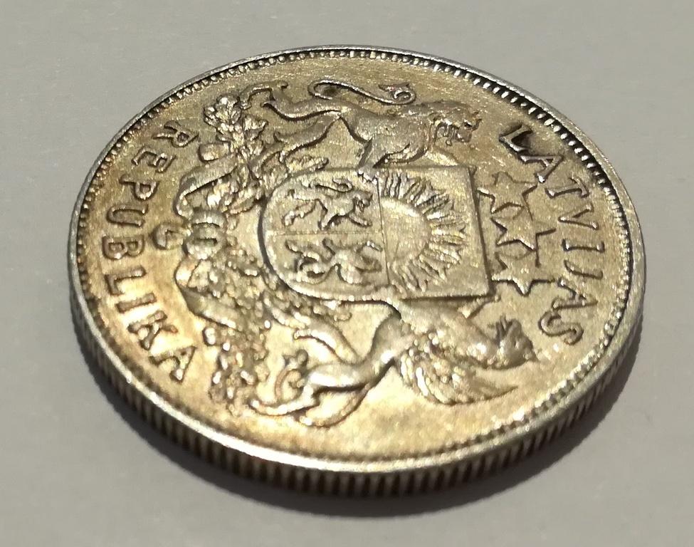 Серебряная монета Двух-латов - 1925.г.