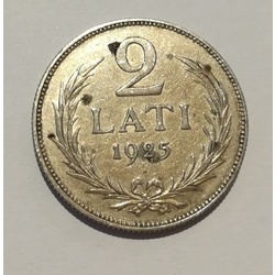 Silver two-lat coin - 1925