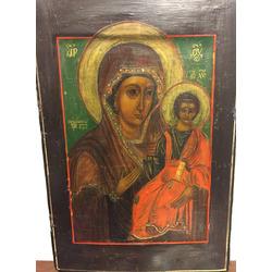 Koka ikona ar gleznojumu un iedobi (ковчег)