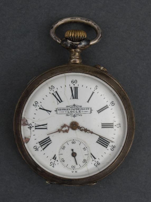 Sudraba kabatas pulkstenis