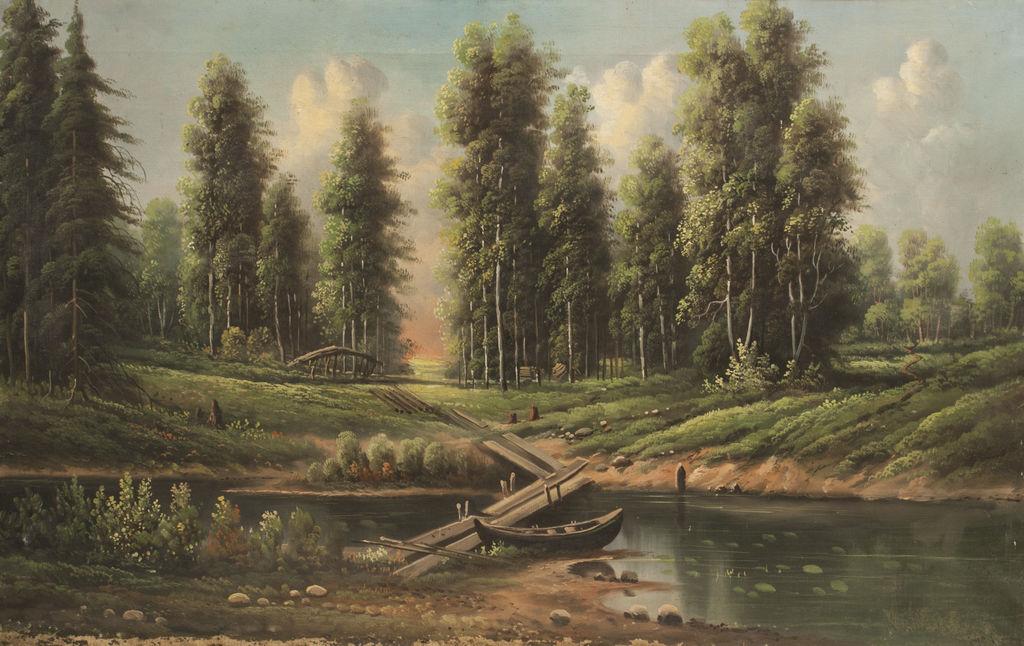Mežs pie upes