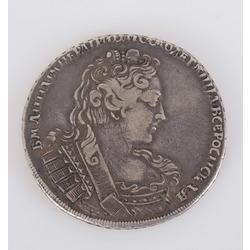 Viena rubļa sudraba monēta