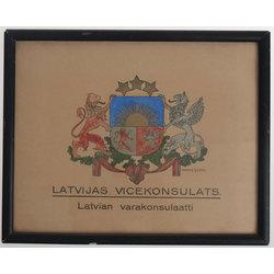 Latvijas Republikas ģērbonis. Latvijas Vicekonsulāts