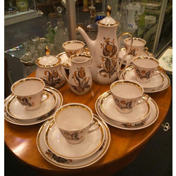 Porcelain tea-coffee set for 6 persons
