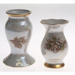 Porcelāna vāze un vāze/svečturis