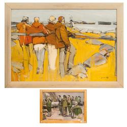 Zvejnieki (Divpusēja glezna)