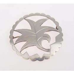 Art Deco-style silver brooch