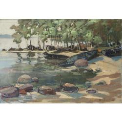 Laivas upes ielokā