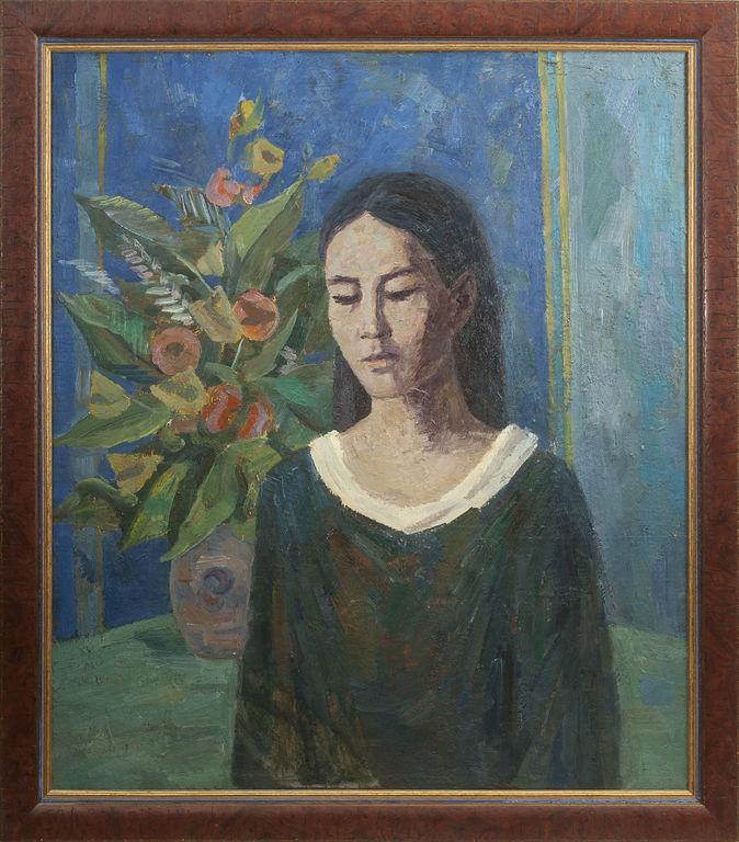 Portrets ar ziediem