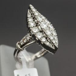 Platīna gredzens ar 29 briljantiem