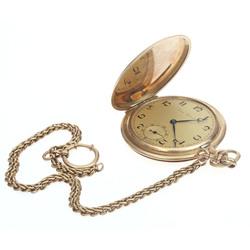 Zelta kabatas pulkstenis Louis Grisel