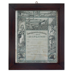Zemgales Lauksaimniecības Centralbiedrības pirmās šķiras diploms