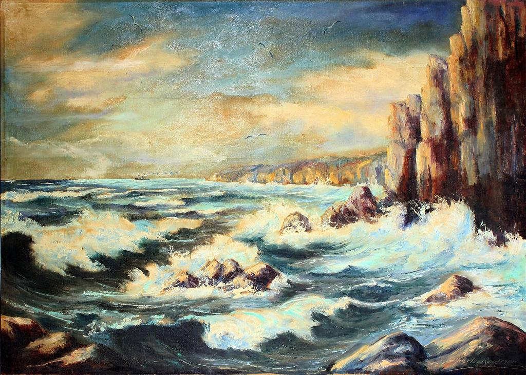 Jūras klinšainais krasts