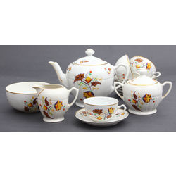 Art-deco stila porcelāna tējas servīze 12 personām
