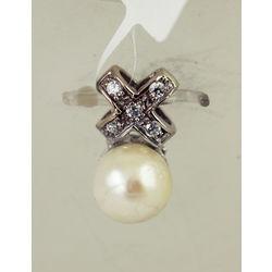 Zelta kulons ar kultivēto pērli
