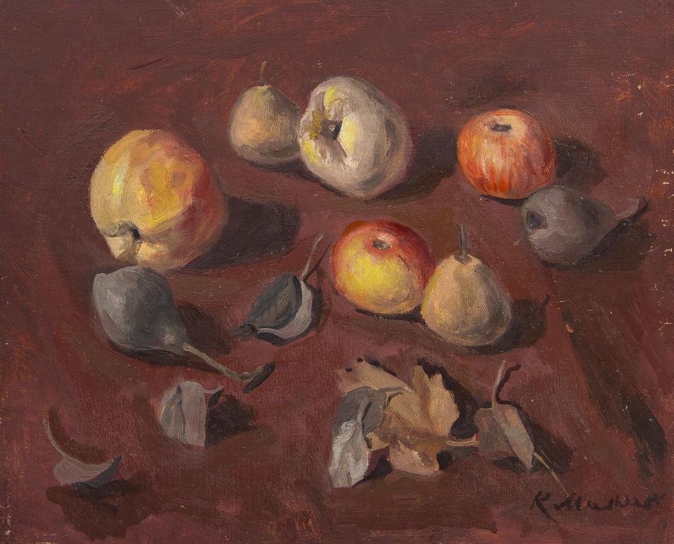 Klusā daba ar augļiem