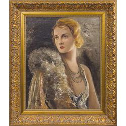 Operdziedātājas Amandas Libertes-Rebānes portrets(Ludolfa Liberta sievas portrets)