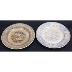 Faience plates 2 pcs.
