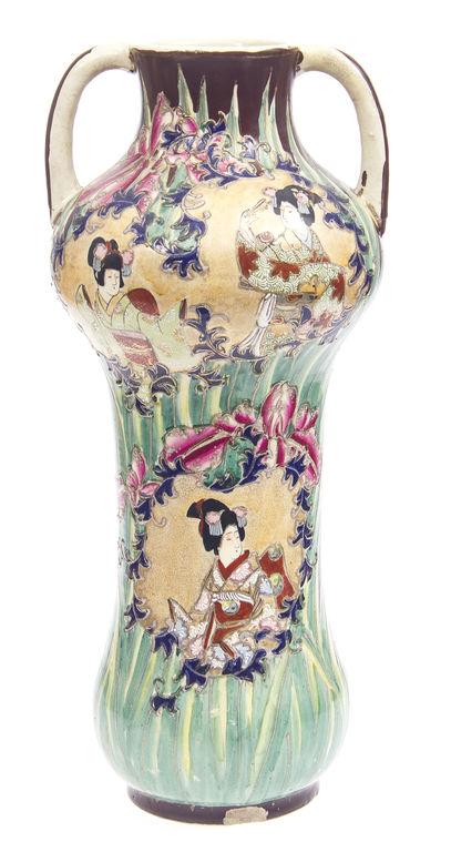 Jūgendstila keramikas vāze