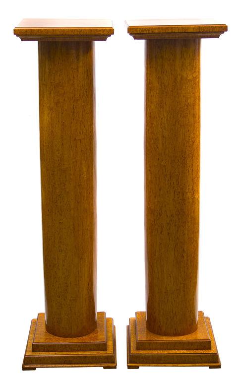 Divas karēlijas bērza kolonnas