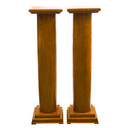 Two karelian birch columns
