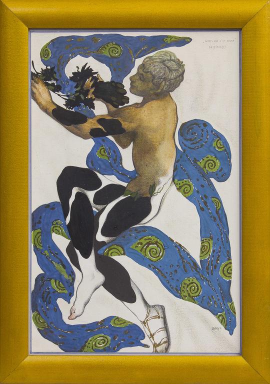 Leona Baksta tērpa skice Vāclavam Ņižinskim, baleta izrādei