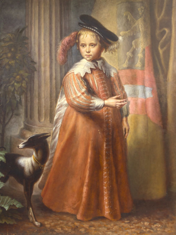 Prince William II of the Netherlands (1626-1650) - portrait with the dog