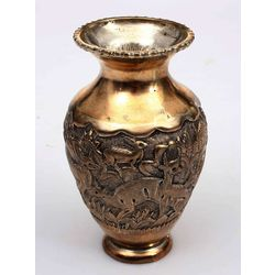 High fineness silver vase