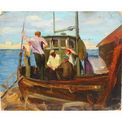 Cilvēki uz kuģa