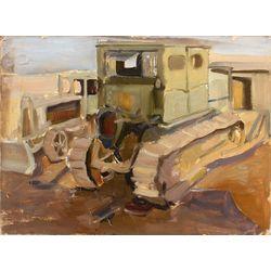 Divpusēja glezna - Traktori/Kuģi