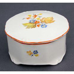 Декоративная фарфоровая миска  с крышкой