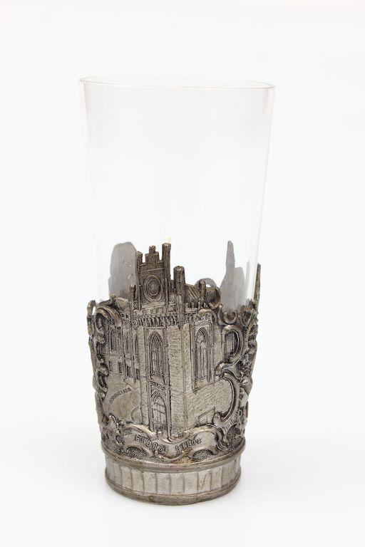 Alvas glāzes turētājs ar Rīgas skatiem
