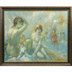 Sievietes pludmalē