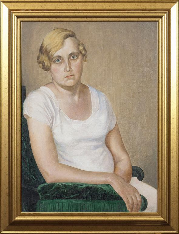 Sieviete baltā
