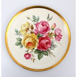 Porcelain decorative wall plate