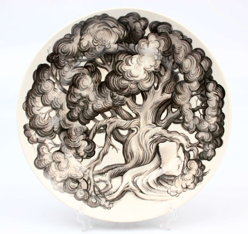 Decorative porcelain plate