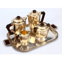 Silver Plated Tea /Coffee set - Milk Jug, Sugar-basin, coffee Jug, Kettle, Tray