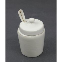 Porcelain mustard container