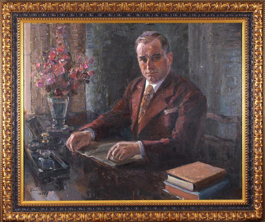 Talsu pilsētas mēra(1939-1940) Pētera Haselbauma portrets