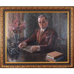 Portrait of Peter Haselbaum, Mayor of Talsi (1939-1940)